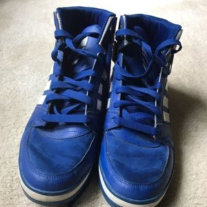 Used Sz. 13 Blue Adidas Sneakers